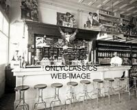 1900 SODA FOUNTAIN COCA-COLA HIRES ROOT BEER ALE SIGN 8X10 PHOTO GREAT AMERICANA
