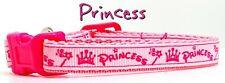 "Princess cat or small dog collar 1/2""wide adjustable handmade or leash"