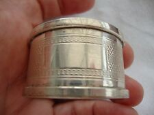 A SOLID STERLING SILVER HALLMARKED BIRMINGHAM 15gm NAPKIN RING VACANT CARTOUCHE