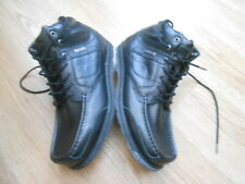 KANGOL BLACK LEATHER  CASUAL BOOTS  SIZE UK 9 = NEVER BEEN WORN