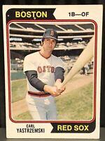 1974 Topps Carl Yastrzemski baseball card Boston Red Sox In Action #280 HOF Yaz