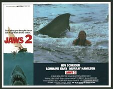 JAWS 2 (VeryFine+) 4 Lobby Cards 1978 Shark Horror Movie Poster Art 4380