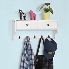 SoBuy® Wall Display Storage Unit with Drawers & Hooks,Wall Coat Rack,FRG178-W,UK