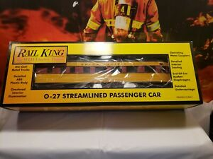 ✅MTH RAILKING UNION PACIFIC 0-27 STREAMLINED OBSERVATION CAR NEW O GAUGE NICE