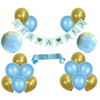 Baby Shower Decorations Kit for Boys. It's A  Boy. Blue - Gold  20 Pieces
