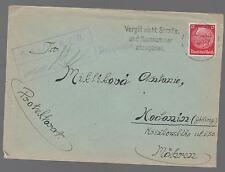 1941 Germany Buchenwald Concentration Camp Cover prsioner Miklik Trornkisek