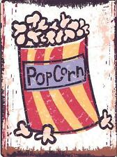 POPCORN METAL SIGN RETRO VINTAGE STYLE SMALL