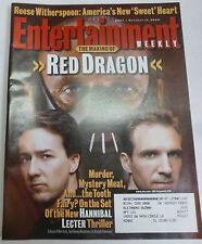 Entertainment Weekly Magazine Hannibal Lecter, Edward Norton Oct 2002 020413R