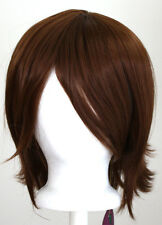 12'' Short Flare Auburn Brown Cosplay Wig Synthetic NEW