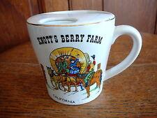 KNOTTS BERRY FARM Vintage CERAMIC MUSTACHE CUP MILK MUG  COVERED WAGON JAPAN EX