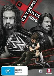 WWE Extreme Rules 2016 DVD - Brand new sealed - Free post!