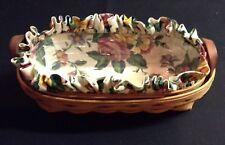 Longaberger Lavender Booking Basket,Protector,Liner (Garden Splendor) Combo 1996