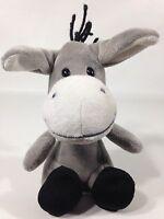 "Bobble Head Gray Donkey Plush Sears Hoffman Estates Stuffed Grey Animal 6"" Toy"