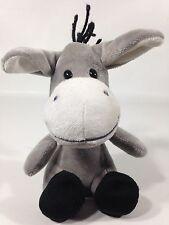 "Sears Hoffman Estates Bobble Head Gray Donkey Plush Stuffed Grey Animal 6"" Toy"