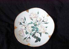 """Goebel / Smithsonian Collection / Bowl 7 3/4"""" / White Roses with Gold"""