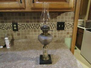 Antique Victorian  oil lamp  Pat April 11th 1876
