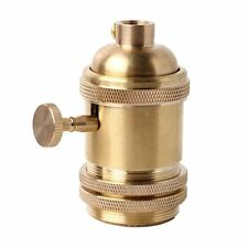 Vintage Retro Edison E26/E27 Brass Lamp Light Bulb Keyed Holder Socket Decor