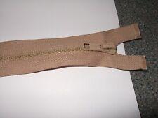 Heavy duty plastic 12 inch open ended beige zip