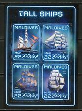 MALDIVES 2018 TALL SHIPS  SHEET MINT NEVER HINGED