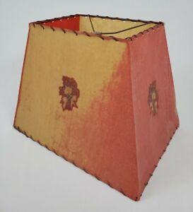 Mid-Century Rectangle Fiberglass Lamp Shade Antique