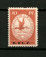 "1912 German Reich - 10 pf. "" Rhein und Main Air "" E.EL.P. - Mi.Nr. V SIGNED MNH"