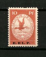 """1912 German Reich - 10 pf. """" Rhein und Main Air """" E.EL.P. - Mi.Nr. V SIGNED MNH"""
