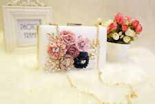 multi   color   New Fashion Colorful Flowers Party Ladies Evening Clutch Bags