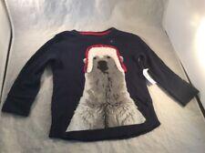 baby gap christmas long sleeve shirt size 2T Navy Blue With Polar Bear Box Q