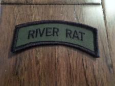 U.S MILITARY RIVER RAT VIETNAM SERVICE ROCKER BAR PATCH NEW