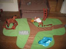 IKEA Fabric ripiegare FATTORIA STALLA Paddock Pond RECINZIONI scala Play Figure Cavallo Mucca
