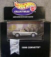 1998 CHEVROLET CORVETTE C5 CONVERTIBLE, Silver~White, Hot Wheels 1:64 NEW in Box