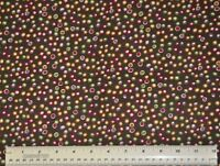 1/2 yard cotton quilt fabric Country Day Dots Springs multi colored dots crafts