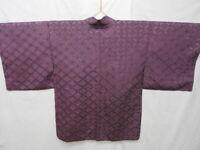 Purple Silk Japanese HAORI w/SHIPPOU J909