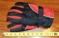 RED LARGE Womans Men SKI GLOVES Snowboard Lined Warm Winter Water Repellent NWT