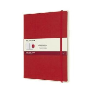 Moleskine Smart Writing Paper Extra Large Tablet Red Ruled Sheet Large Hardback