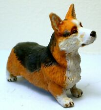 More details for pewter hand made painted  miniature figurine welsh corgi dog  statuette