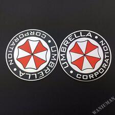 2x Metal Umbrella Corporation Resident Evil Car Auto Emblem Badge Decal Stickers