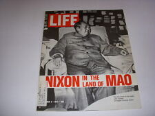 LIFE MAGAZINE, March 3, 1972, NIXON IN THE LAND OF MAO, 100 YEARS OF YELLOWSTONE