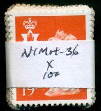 Great Britain N. Ireland Sg-Ni49, Scott # Nimh-36 Used, 100 Stamps, Great Price!