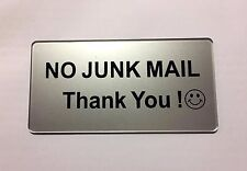 No Junk Mail signs (BULK - WHOLESALE) Minimum 50 units