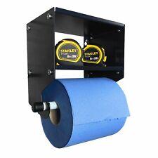 Blue Roll Holder & Shelf Storage Unit Cleaning Supplies Dispenser Workshop DIY