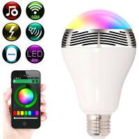 BL05 LED RGB Color Bulb Light E27 Bluetooth Control Music Audio Speaker Lamp LED