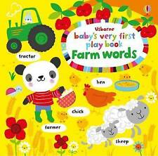 Baby's Very First Play book Farm words-ExLibrary