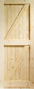 PINE FRAMED, LEDGED AND BRACED EXTERNAL SHED OR GATE DOOR