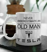 TESLA Funny Gift MUG Dad Fathers Day Car Model X S 3 Gift For Him Coffee Tea CUP