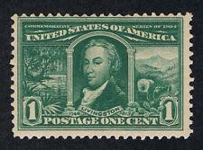 GENUINE SCOTT #323 F-VF MINT OG NH 1904 GREEN 1¢ LOUISIANA PURCHASE EXPO ISSUE