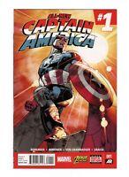 All New Captain America 1, VF+ 8.5, 1st App Sam Wilson as Captain America