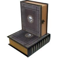 Grimoire Immortal Deck Box Spellbook Wooden Fabric Lined Magic TCG MTG YuGiOh