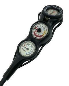 Promate In Line 3 Gauge Console Scuba Dive Pressure, Depth, Compass PSI & BAR