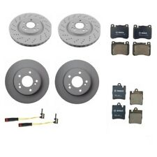Fits Mercedes W203 C230 C280 Front & Rear Brake Disc Rotors Pads & Sensors KIT